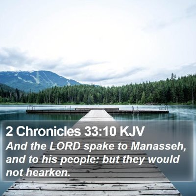 2 Chronicles 33:10 KJV Bible Verse Image