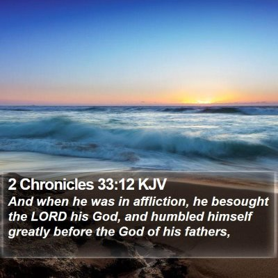 2 Chronicles 33:12 KJV Bible Verse Image