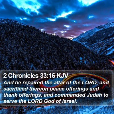 2 Chronicles 33:16 KJV Bible Verse Image