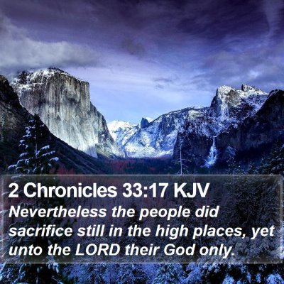 2 Chronicles 33:17 KJV Bible Verse Image