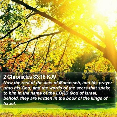2 Chronicles 33:18 KJV Bible Verse Image