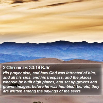 2 Chronicles 33:19 KJV Bible Verse Image