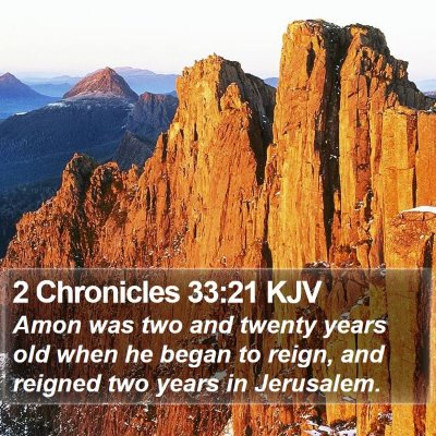 2 Chronicles 33:21 KJV Bible Verse Image