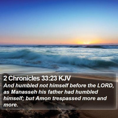 2 Chronicles 33:23 KJV Bible Verse Image