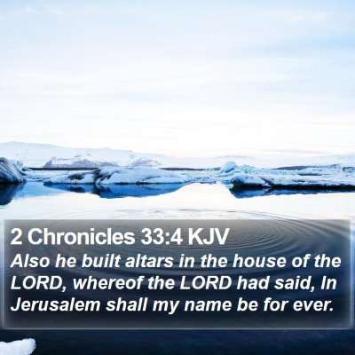 2 Chronicles 33:4 KJV Bible Verse Image