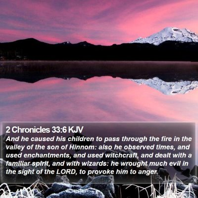 2 Chronicles 33:6 KJV Bible Verse Image