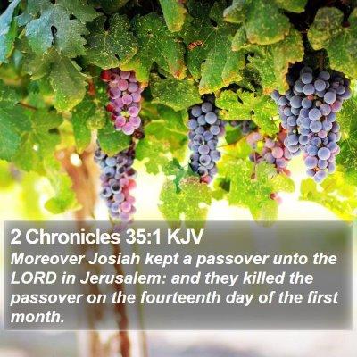 2 Chronicles 35:1 KJV Bible Verse Image
