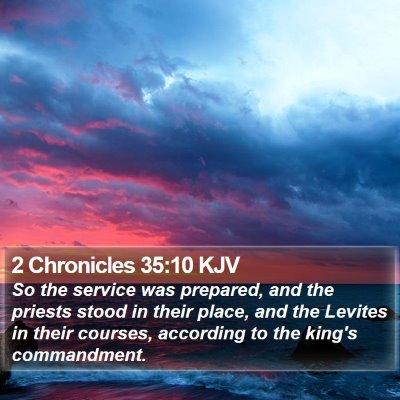 2 Chronicles 35:10 KJV Bible Verse Image
