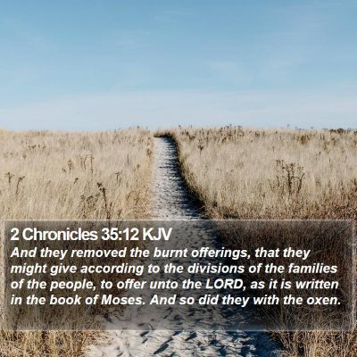 2 Chronicles 35:12 KJV Bible Verse Image