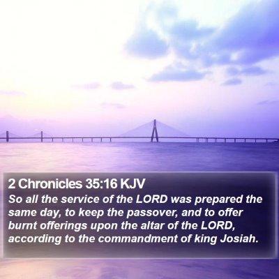 2 Chronicles 35:16 KJV Bible Verse Image