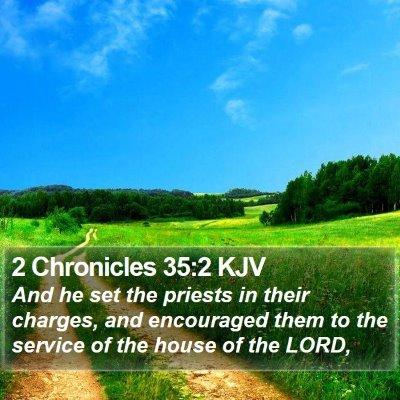2 Chronicles 35:2 KJV Bible Verse Image