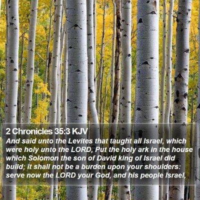 2 Chronicles 35:3 KJV Bible Verse Image