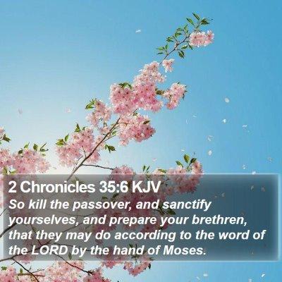 2 Chronicles 35:6 KJV Bible Verse Image