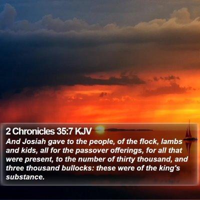 2 Chronicles 35:7 KJV Bible Verse Image