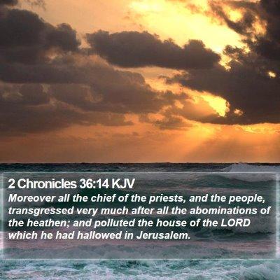 2 Chronicles 36:14 KJV Bible Verse Image