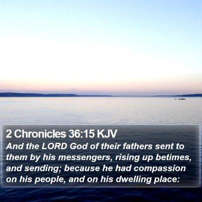 2 Chronicles 36:15 KJV Bible Verse Image