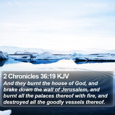 2 Chronicles 36:19 KJV Bible Verse Image