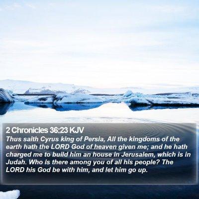 2 Chronicles 36:23 KJV Bible Verse Image