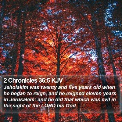 2 Chronicles 36:5 KJV Bible Verse Image