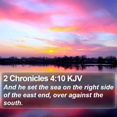 2 Chronicles 4:10 KJV Bible Verse Image