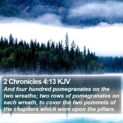 2 Chronicles 4:13 KJV Bible Verse Image