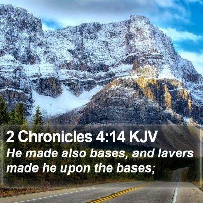 2 Chronicles 4:14 KJV Bible Verse Image