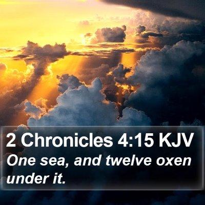 2 Chronicles 4:15 KJV Bible Verse Image