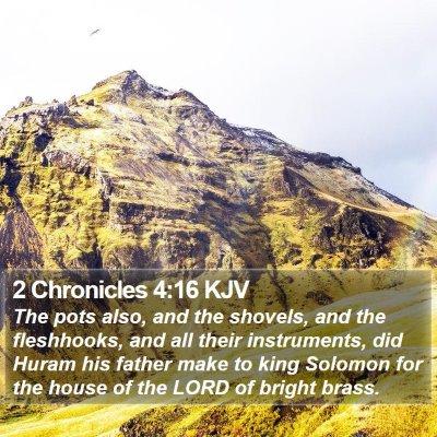 2 Chronicles 4:16 KJV Bible Verse Image