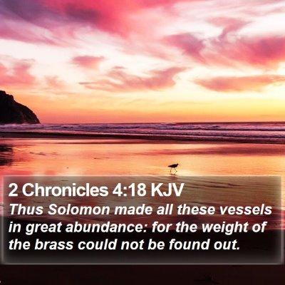 2 Chronicles 4:18 KJV Bible Verse Image