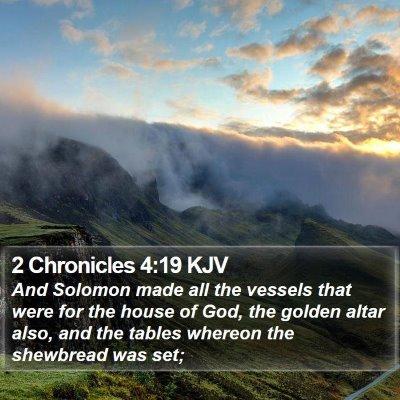 2 Chronicles 4:19 KJV Bible Verse Image