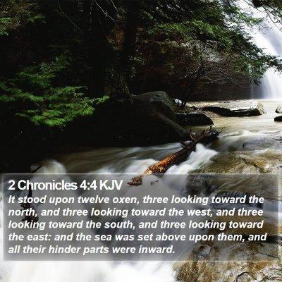 2 Chronicles 4:4 KJV Bible Verse Image