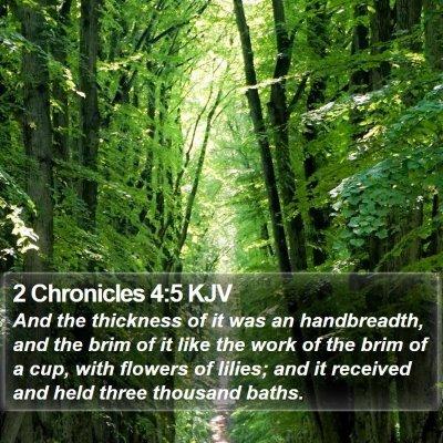 2 Chronicles 4:5 KJV Bible Verse Image