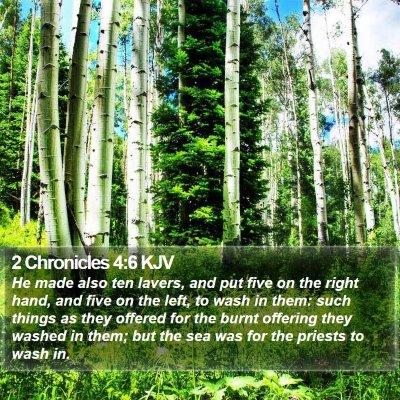 2 Chronicles 4:6 KJV Bible Verse Image