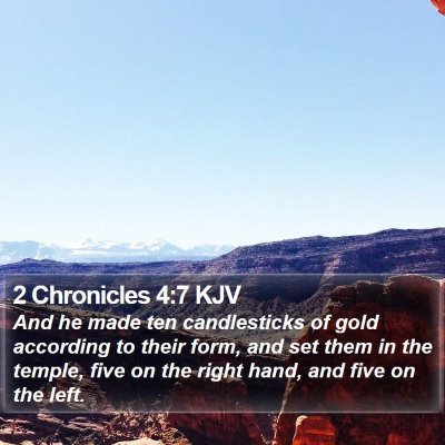 2 Chronicles 4:7 KJV Bible Verse Image