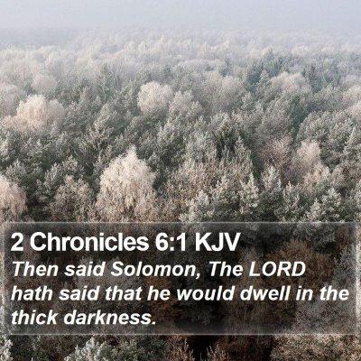 2 Chronicles 6:1 KJV Bible Verse Image
