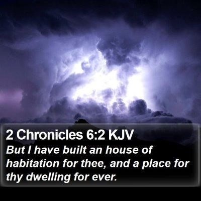 2 Chronicles 6:2 KJV Bible Verse Image