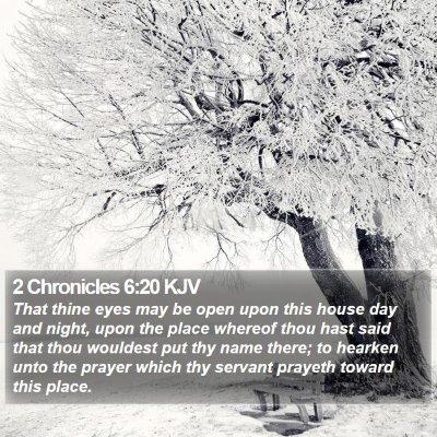 2 Chronicles 6:20 KJV Bible Verse Image