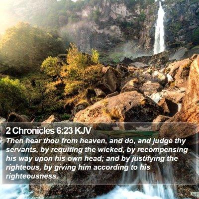 2 Chronicles 6:23 KJV Bible Verse Image