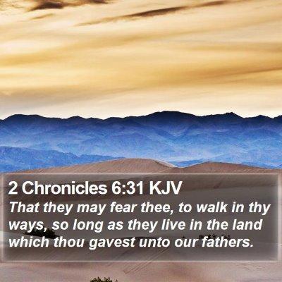 2 Chronicles 6:31 KJV Bible Verse Image