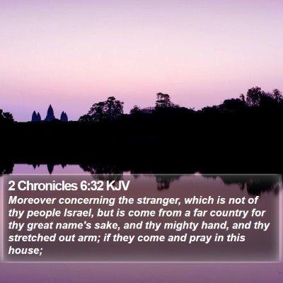 2 Chronicles 6:32 KJV Bible Verse Image