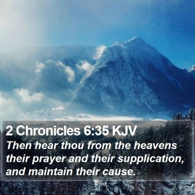 2 Chronicles 6:35 KJV Bible Verse Image