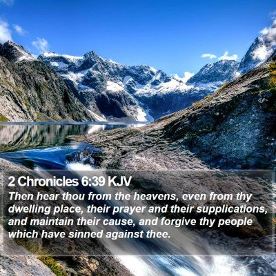 2 Chronicles 6:39 KJV Bible Verse Image