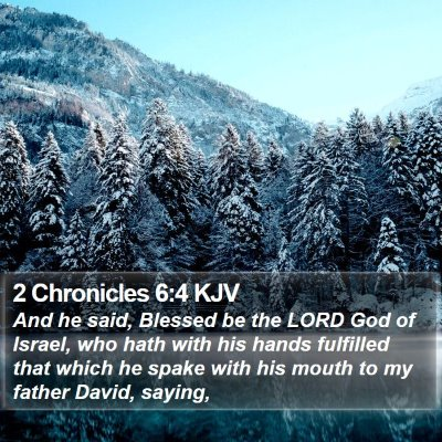 2 Chronicles 6:4 KJV Bible Verse Image