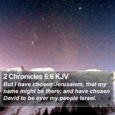2 Chronicles 6:6 KJV Bible Verse Image