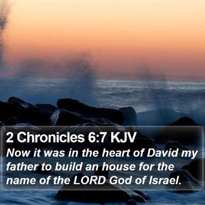 2 Chronicles 6:7 KJV Bible Verse Image