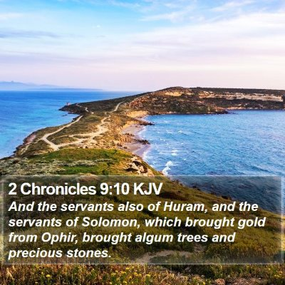 2 Chronicles 9:10 KJV Bible Verse Image