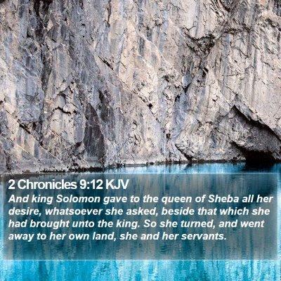 2 Chronicles 9:12 KJV Bible Verse Image
