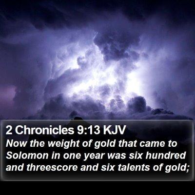 2 Chronicles 9:13 KJV Bible Verse Image