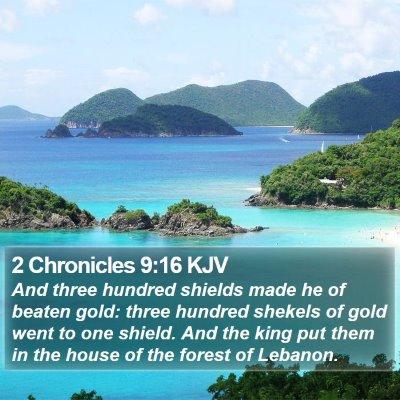 2 Chronicles 9:16 KJV Bible Verse Image