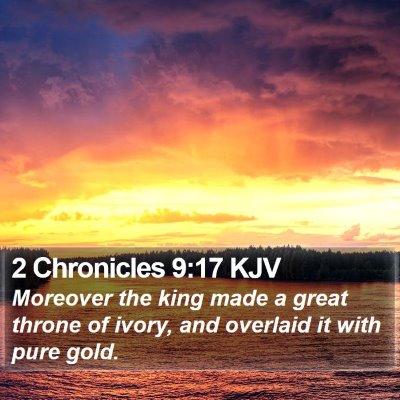 2 Chronicles 9:17 KJV Bible Verse Image